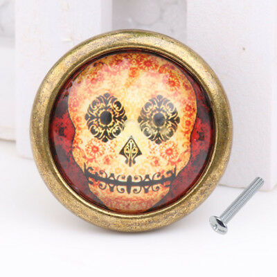 Skull Closet Door Dresser Drawer Cabinet Cupboard Pull Knob Bin Handle #05