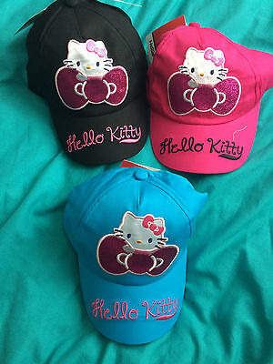 Wholesale Job Lot Hello Kitty Glitter Baseball Caps x 7