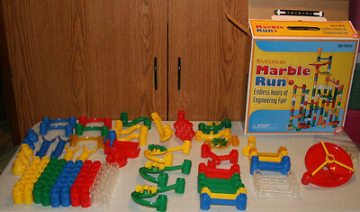 MindWare Marble Run track 112 PCs with 12 marbles Spliters Game Box