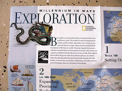 Exploration / The Explorers  National Geographic Map / Poster Dec 97
