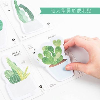 Fresh Planner Memo Pad Green Plant Sticky Note Cactus
