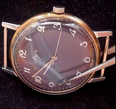 "Rare Gold-Plated Vintage Belarus USSR ""Luch"" mecanical 2209 watch"