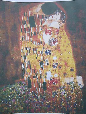 Cross Stitch Chart - The Kiss by Klimt