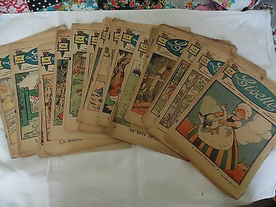 Collection of 18 antique comics/magazines entitled Lisette from 1921-1923