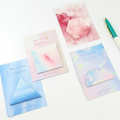 Page Marker Note Pad Watercolor Geometric Sticky Notes Memo