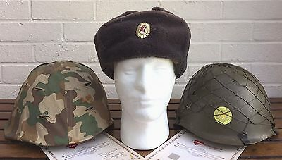 007 James Bond Golden Eye & Die Another Day Production Used Prop Hat Helmets Coa