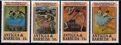 "Antigua and Barbuda Stamps,""Barbuda Mail""Ovpt, SC # 665;667;669;672 MNH"