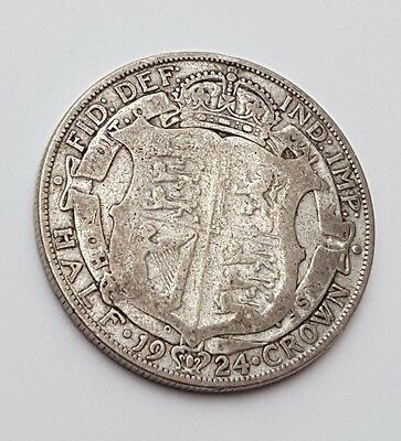 Dated : 1924 - Silver Coin - Half Crown - King George V - Great Britain UK