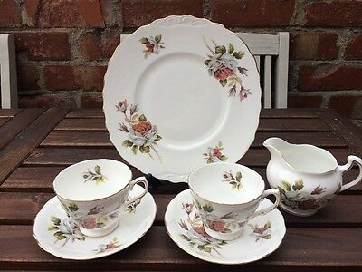 Vintage SHABBY CHIC, Queen Anne China 6piece Set. Ideal For Weddings