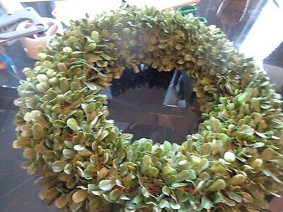 """Pottery Barn Christmas boxwood wreath lit 20"""" issue does not work New wo tag"""