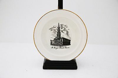 Vintage Arklow China Bowl - Showing the 18th C St. Georges Parish House, Dublin