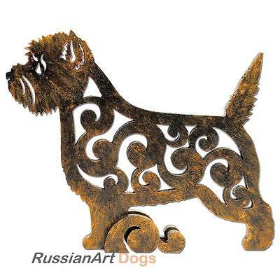 Brindle Cairn Terrier figurine, statuette made of wood