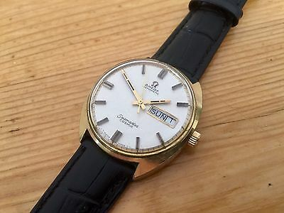 Omega Seamaster Cosmic Day Date Mens Gents Vintage Leather Watch Nice Condition