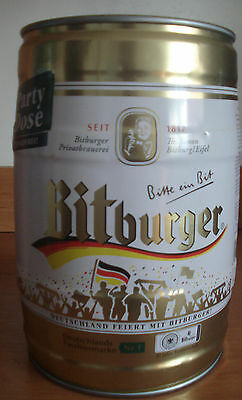 Bitburger  5l Fass, lee / GALLON