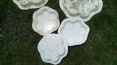 "Small 12"" Cement Concrete Molds Or Mould Dog Paws Puppy Paws"