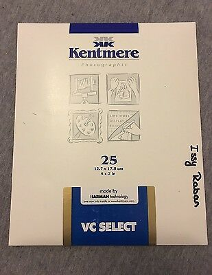 """Kentmere VC Photographic Darkroom Paper RC 5""""x7"""" 25 Sheets Glassy"""