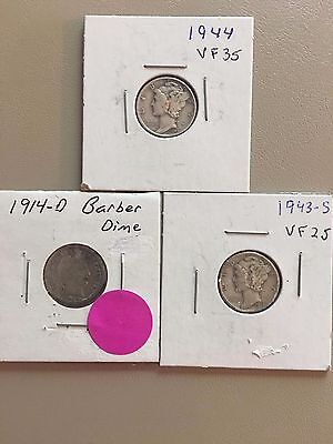 Mixed silver dime lot