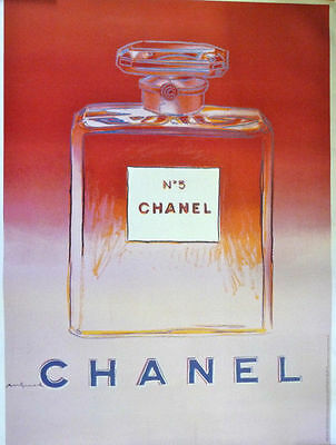 Andy Warhol Publicity Poster for Chanel No 5, red/pink, 1997