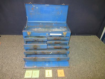 Stack On Tool Box Metal Blue Military Drawer Artillery Chest Kit Tray Usa Used