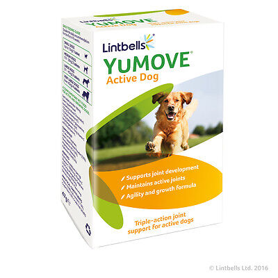 Lintbells Yumove Active Dog Joint Support Supplement Glucosamine 60 Tablets