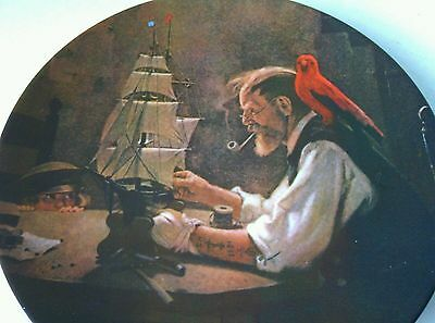 Decorative China Plate The Ship Builder Collectible Norman Rockwell Knowles 1854