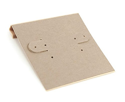 Hanging Earring Card - Kraft Paper 2x2 (Package of 100)