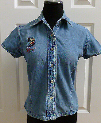 WDW Walt Disney World Disney Store Cast Member Denim Shirt S Small