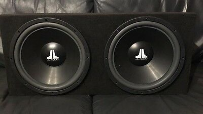 """JL Audio W6 15"""" Subwoofers In A Sealed Box."""