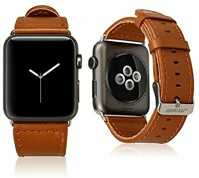 NEW Apple Watch Wristband Bands Genuine Lambskin Leather Apple Watch 42mm Brown
