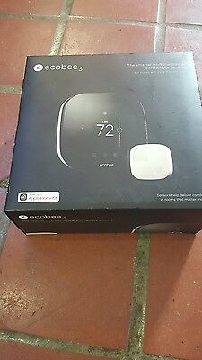 ecobee3 The Smarter WiFi Thermostat 2nd Gen. With Remote Sensor NO RESERVE