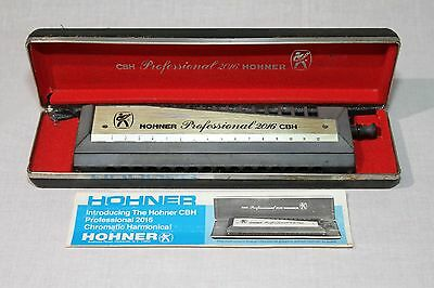 "Hohner ""professional 2016 Cbh"" Chromonica In ""c"" With Storage Box &  Manual"