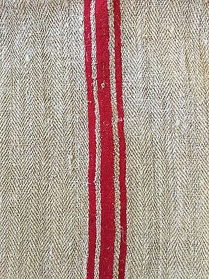 Super Long Perfect European Grain Sack With Mono And Red Stripes