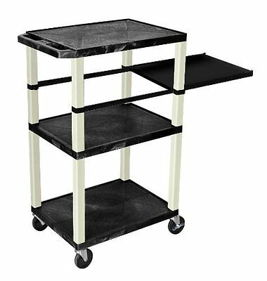 "H WILSON WTPSP42E-P Tuffy Presentation Station with Putty Legs, 42"", Black, No T"