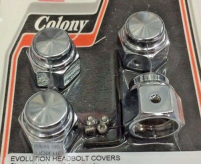 Motorcycle Parts HARLEY HD TWIN CAM CHROME TOP HAT ROCKER BOX BOLTS