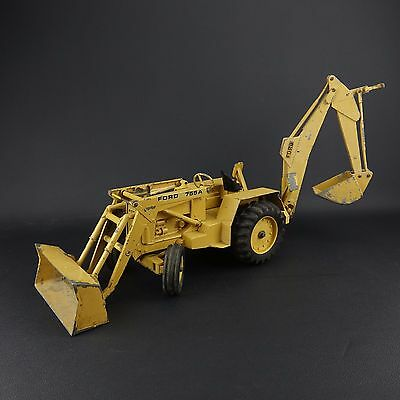 ERTL Ford #755 A Loader Backhoe Farm Toy Construction Tractor 1:12 Diecast