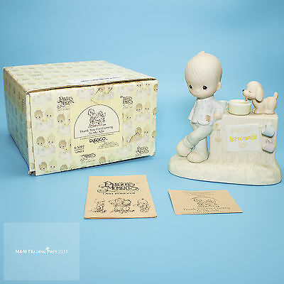 """1980 ENESCO Precious Moments """"Thank You for Coming to My Aide"""" Figurine E5202"""