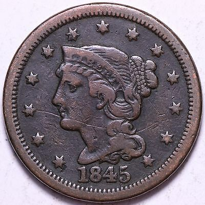 1845 Large Cent R4WCC