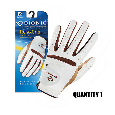 Bionic Ladies Relax-Grip Golf Glove Leather Palm/Synthetic Back. Comfort-Durable