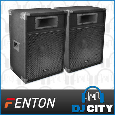 "2x CSB-15 15"" Inch Active Powered Speakers Amplifier PA DJ PUBLIC ADDRESS SYSTEM"