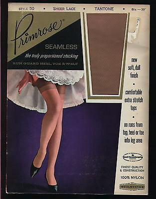 Vintage NYLON STOCKINGS.  TANTONE colored.  Primrose, 8-1/2,   NEW IN PACKAGE
