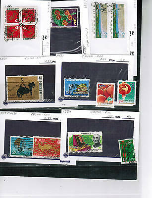 CHINA  group of 18  see scan  USED/MLH mixed   cat $16.00  LOT CHINA