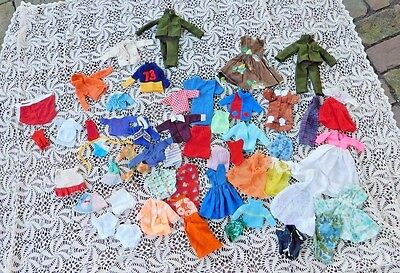 GIANT 50 PIECE LOT VINTAGE 1960's BARBIE KEN SKIPPER CLOTHES CLOTHING