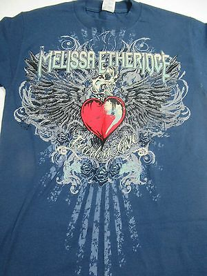 Melissa Etheridge 2011 Fearless Love Tour Adult S T-shirt Great Condition Blue