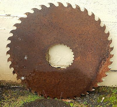Vintage Circular Saw Blade Large Diameter Feature Craft Or Painting Background