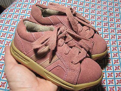 Cute Stride Rite Pink Mauve Girl Toddler Leather Upper Shoes size 7 1/2 M