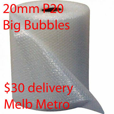 NEW 20mm P20 BIG Bubbles 500mm x 100M meters Bubble Wrap Roll clear Polycell