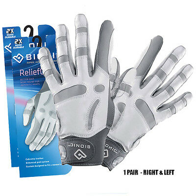 1 Pair Bionic Arthritic Ladies Relief Grip Golf Gloves 1 Right & 1 Left Glove