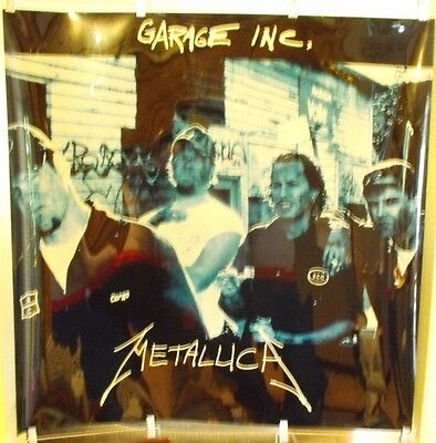 "Metallica Garage Inc Backlit Lightbox Poster 36"" x 36"" Promotional Duratrans"