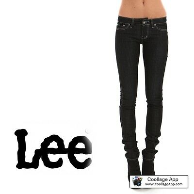 RIDERS BY LEE JEANS womens SIZE 9 (27) LOW RISE SKINNY black rinse stretch  Myer