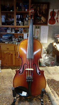 Antique 3/4 size European handmade trade violin from early 1900s.